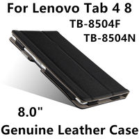 Case Cowhide For Lenovo Tab 4 8 Protective Protector Smart Cover Genuine Leather TB 8504F TB
