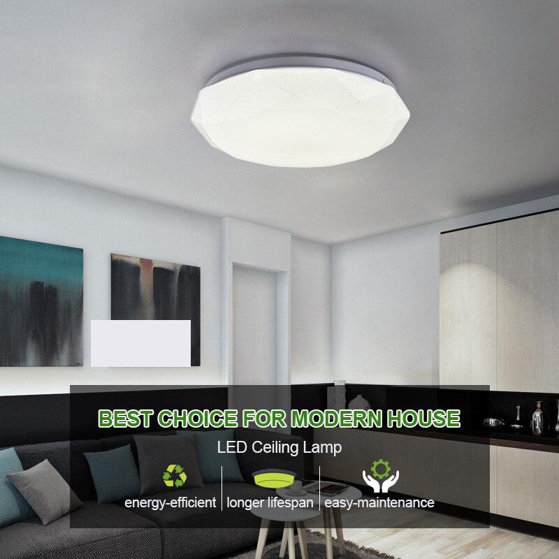 Modern 36w 48w LED Ceiling Light Lamps 110V 220V Living Bedroom Kitchen Lamp Surface Mounting Ceiling LightModern 36w 48w LED Ceiling Light Lamps 110V 220V Living Bedroom Kitchen Lamp Surface Mounting Ceiling Light