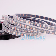 Wholesale 4M 60 pixels/m WS2812B led strip Black PCB Tube -Waterproof ,ws2812 chip,DC5v SMD 5050 RGB Individually Addressable