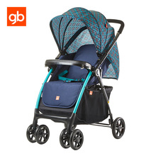 GB Lightweight Portable Baby Stroller Adjustable Quick Fold Baby Pram Compact Space Saving Carriage Stroller Sit Lie Pushchair(China)