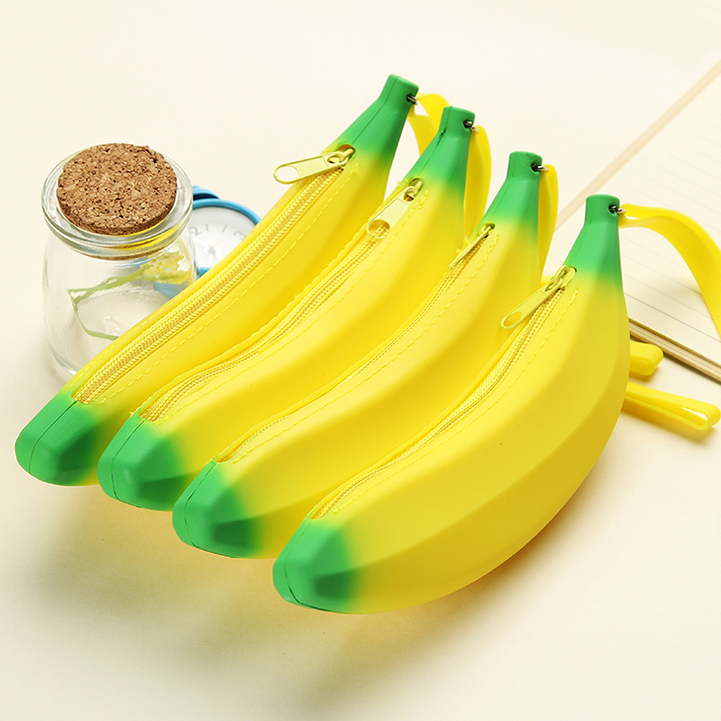 New Novelty Banana Coin Purse Change Purse Women Key Wallet Coin Wallet Children Kids Gifts Pencil Case Pen Bag Students School Removing Obstruction Luggage & Bags