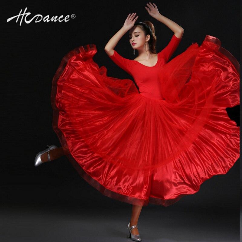 Hcdance skirts setwomen dress adult gauze big skirt dance clothesSalsa Tango Rumba flamengo Ballroom A133+ B202