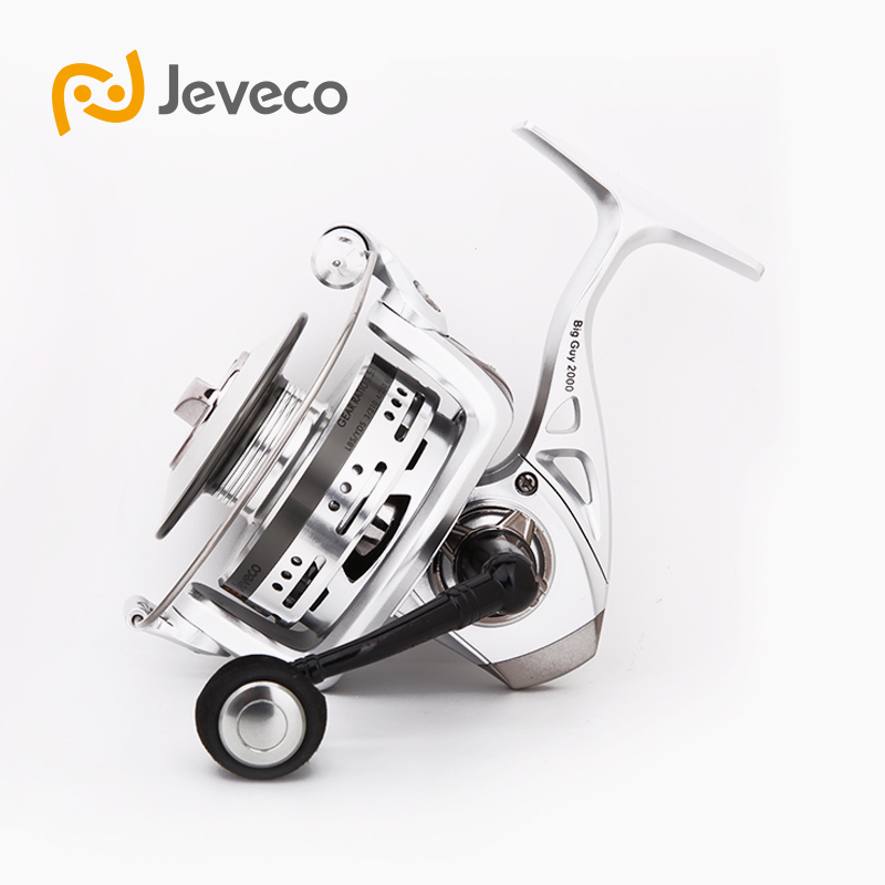 Jeveco BigGuy Spinning Fishing Reel, Long Casting Reel Fishing 5,5: 1 6 + 1BB, Special Design Aluminium Spole För Long Casting