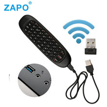 2.4 GHZ Wireless Giroskop Terbang Udara Mouse Keyboard Game Android Remote Controller Rechargeable Keyboard untuk Smart TV Box Laptop PC(China)
