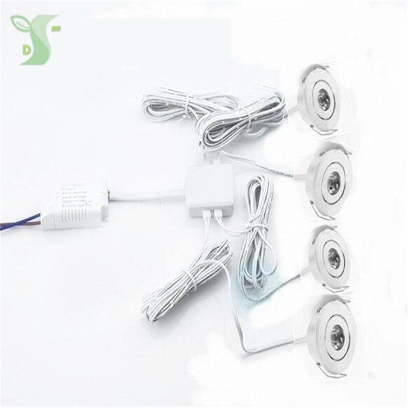 110 V 220 V LED Mini plafond LED spot light lampe dimmable 1 W mini LED downlight Y Compris 1 pcs lecteur avec 6 pcs lumière