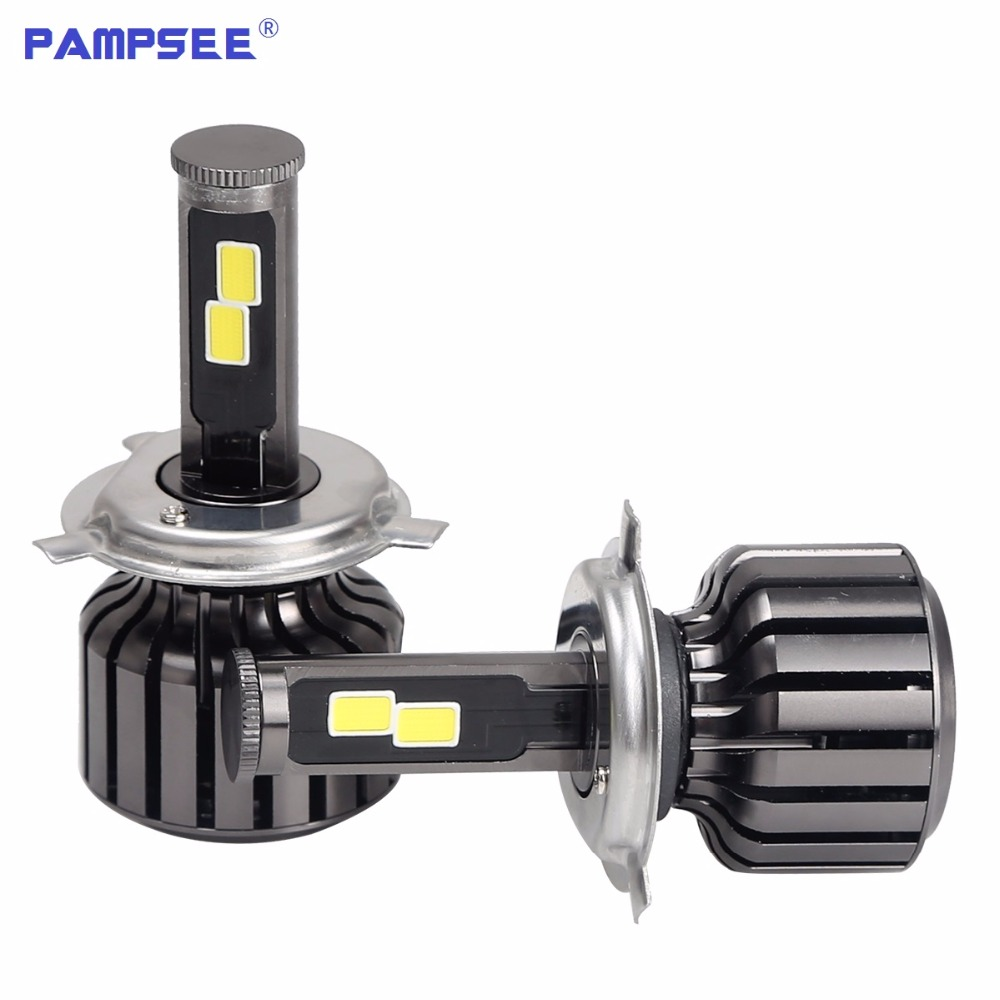 PAMPSEE 6S Headlight <font><b>H4</b></font> H7 H8 H9 H11 H1 9005 HB3 9006 HB4 9003 HB2 <font><b>Led</b></font> Bulb 60W <font><b>10000Lm</b></font> Car Light 12V Fog Lamp Automobiles 6000K image