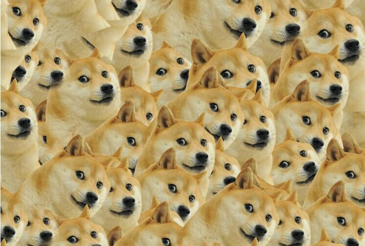 Doge God annoying dog puzzle 1000 pieces of wood of adult heart disease mental funeral spree pollution erhu eggs box clutch purse