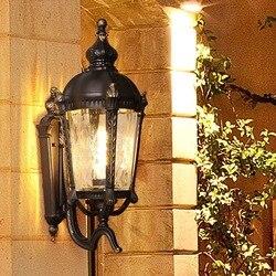 HAWBOIRRY LED na zewnątrz wodoodporny kreatywny dziedziniec Bar lampy ścienne domu Retro europejski wnętrze klatki schodowej przejściach i korytarzach korytarz światła|Zewnętrzne lampy ścienne|   -