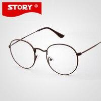 GUOXUAN Cute Style Vintage Eyewear Women Glasses Frame Round Thin Eyeglasses Frame Optical Frame Glasses Oculos