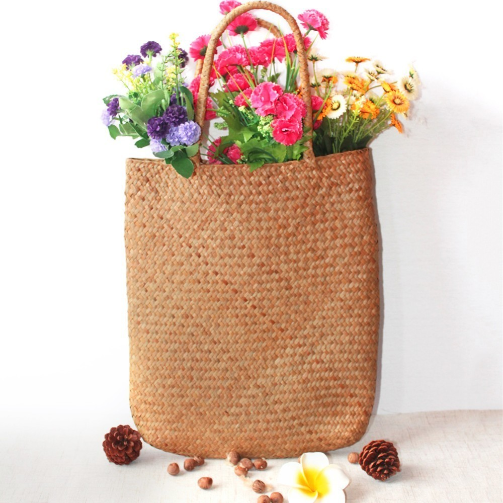 Fashion Shopping Flower Fruit Vegetables Grocery Bag Shopper Tote Mesh Net Woven Cotton Shoulder Bag Hand Totes Home Storage Bag