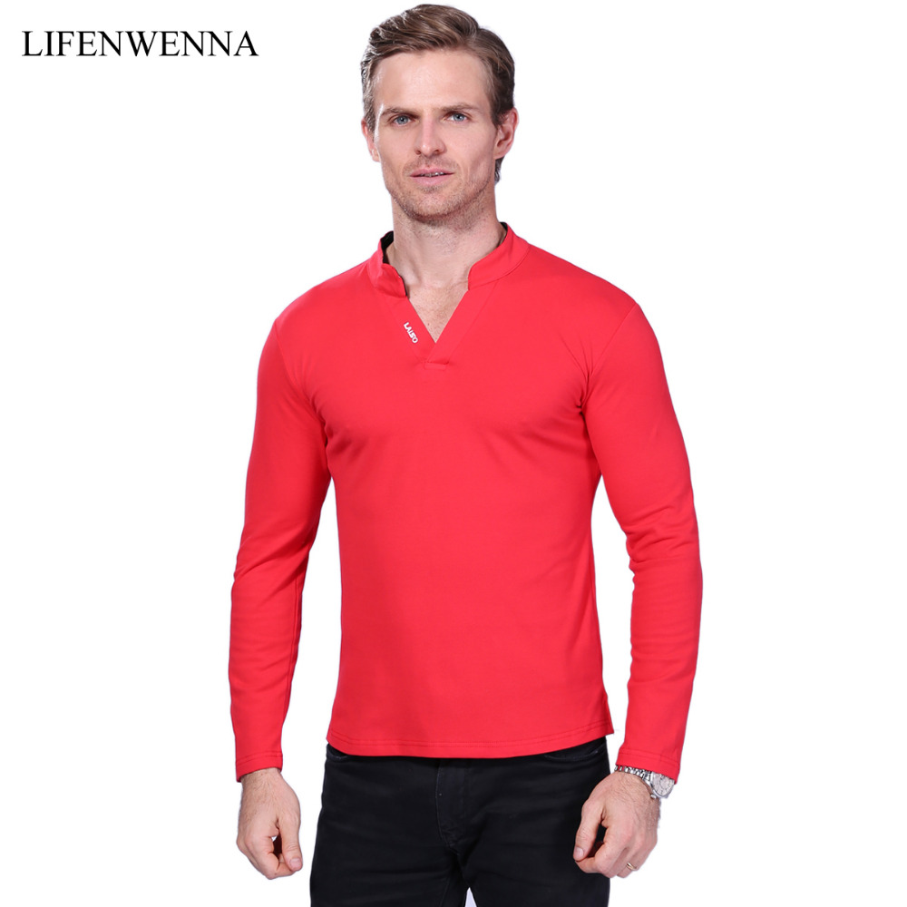 Hot sale new 2017 2017 fashion brand men polo shirt solid for Mens long sleeve t shirts sale
