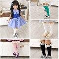 20 unids = 10 par de los bebés medias pantimedias y niños de Alta calidad medias niñas rodilla altos calcetines calcetines de las muchachas media pantalones de la muchacha