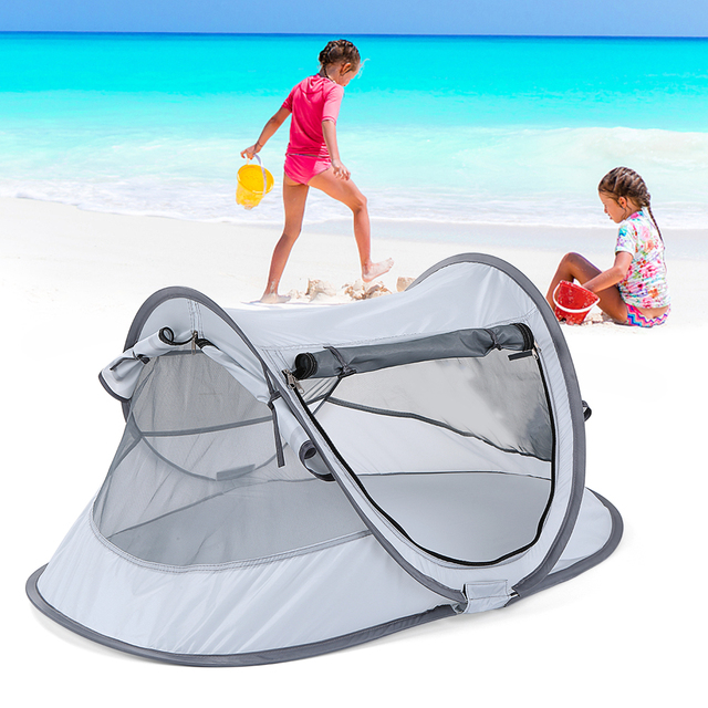 Outdoor Baby Beach Tent UV-protecting Sun Shelter Camping Tent Indoors Baby Toy Tent Waterproof Childrens Tent Kids Small House