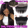 Peruvian Lace Frontal Closure 13X4 Virgin Human Hair Ear To Ear Full Frontal Closure With Baby Hair Free Middle 3 Part Closures