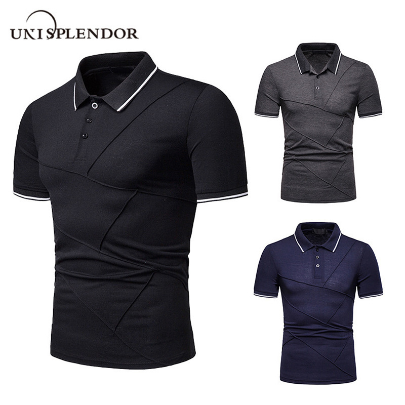 US Size Summer Men   Polo   Shirts Breathable Solid Men's   Polo   Solid Cool Business Man   Polo   Male Mens Short Sleeve Blusas Tops XT800