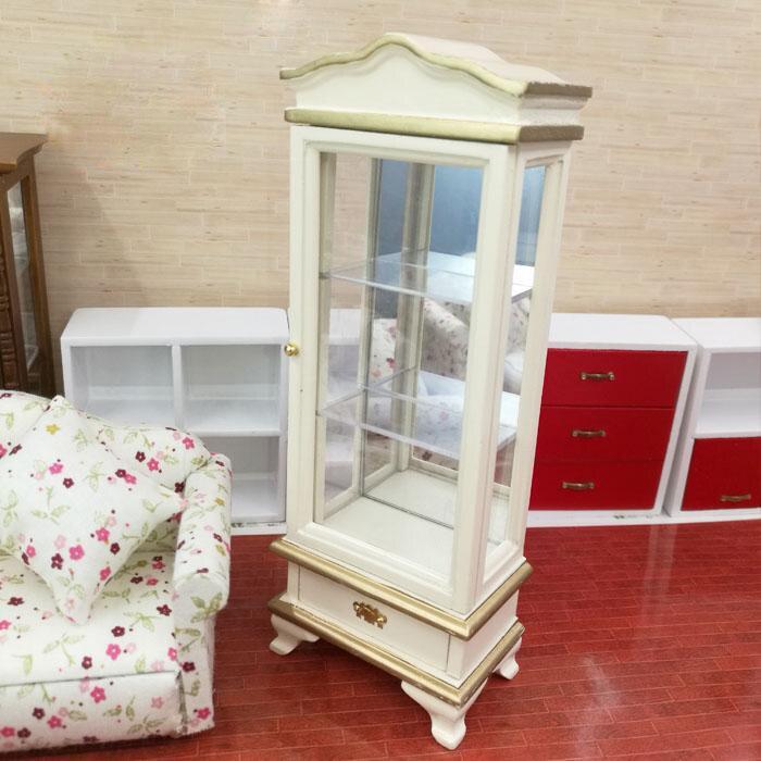 купить G05-X4647 children baby gift Toy 1:12 Dollhouse mini Furniture Miniature rement cake display cabinet 1pcs дешево