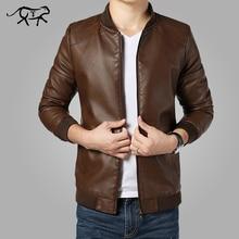 2017 Nova Chegada jaqueta masculina Casacos Dos Homens Outwear Jaquetas de Couro dos homens primavera & Outono PU Jaqueta De Couro Casaco Plus Size M-4XL(China (Mainland))