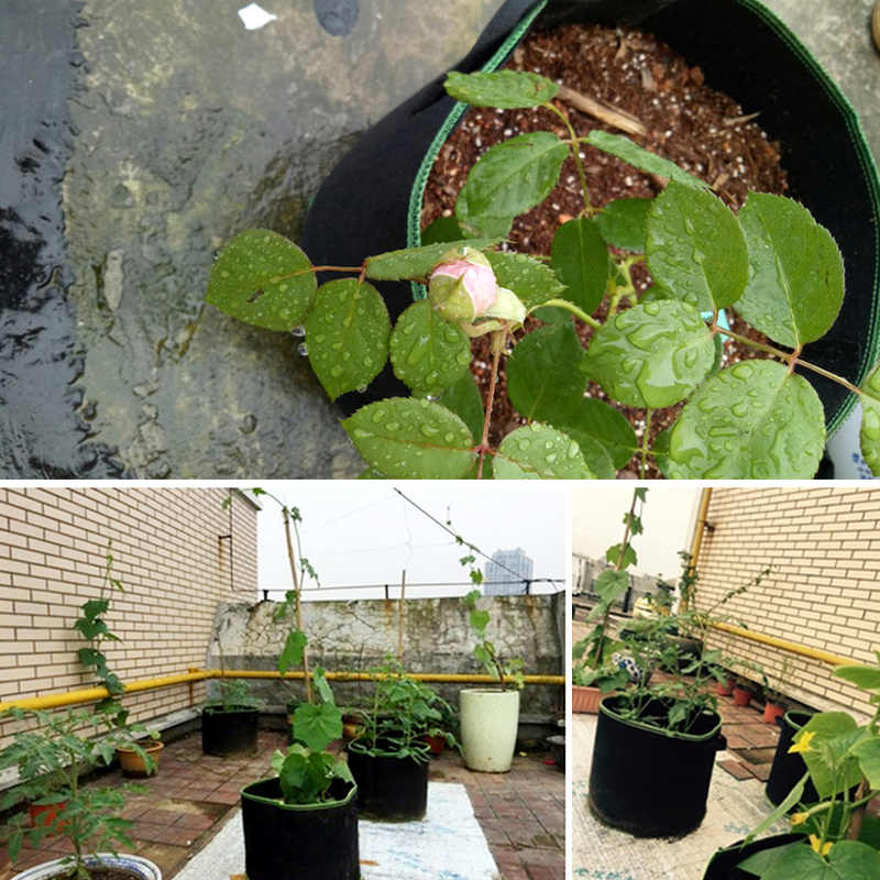 5 шт./лот 10 галлонов Растениеводство мешок домашний сад клубника цветы мешки для посадки, роста картофель овощи горшки плантаторы