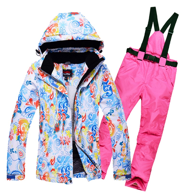 Thermal Thick Fleece Padding Ski Jackets and pants Suit Winter Snow Sports Skiing  Snowboarding Clothing Sets-in Skiing Jackets from Sports   Entertainment ... 12a322170