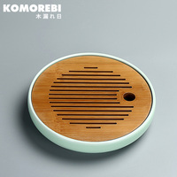 komorebi traditional for teapot storage China Ceramic Crafts Chinese wood tea tray classic kung fu tea natural wood saucer