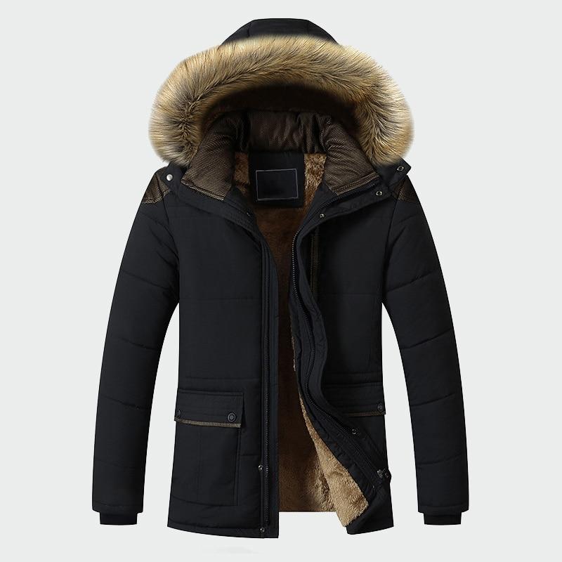 Veste d'hiver hommes marque vêtements décontracté mince épais chaud hommes manteaux Parkas avec capuche longs pardessus hommes vêtements ML026 - 3