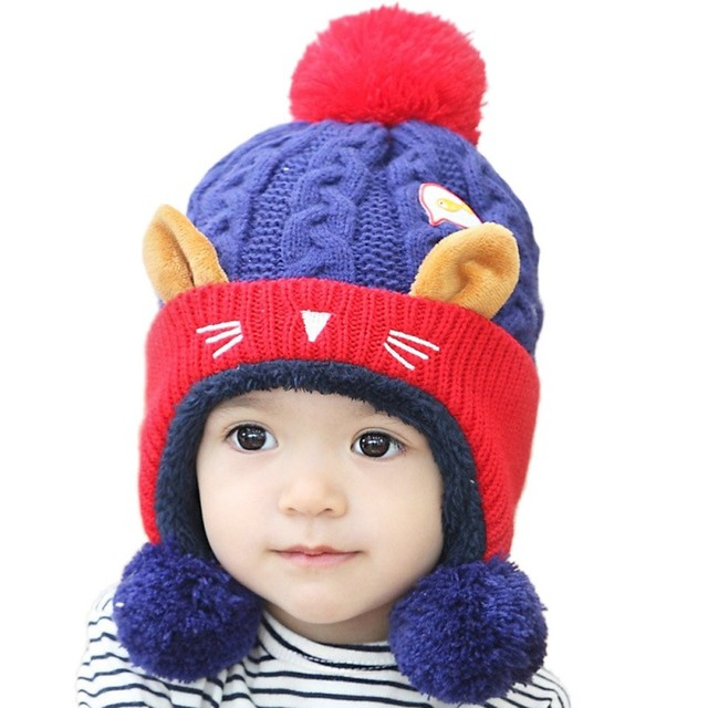 Winter Warme Mütze Infant Beanie Cap Nette Baby Kinder Jungen