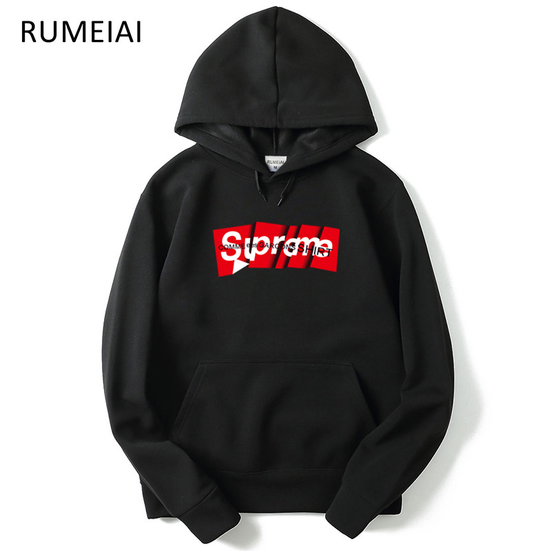 2018 Suprem Hip Hop Hoodies Sweatshirts Pink Autumn New Spoof Cartoon Fashion Printing 1:1 Casual Sweatshirts Men/Women Hoody
