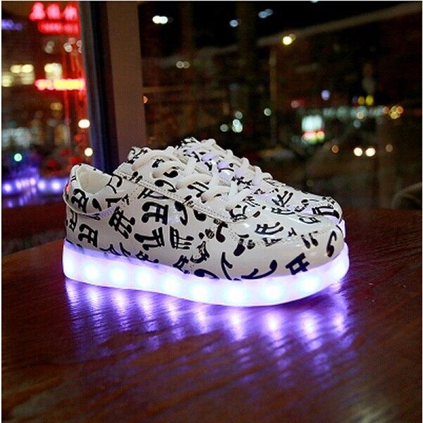 Couleurs Lumineux Chaussures Hommes 6 Unisexe Led 7 Up 8 3 5 De Light Mode Adultes 4 Casual Pour 1 2 qUSMGzVp