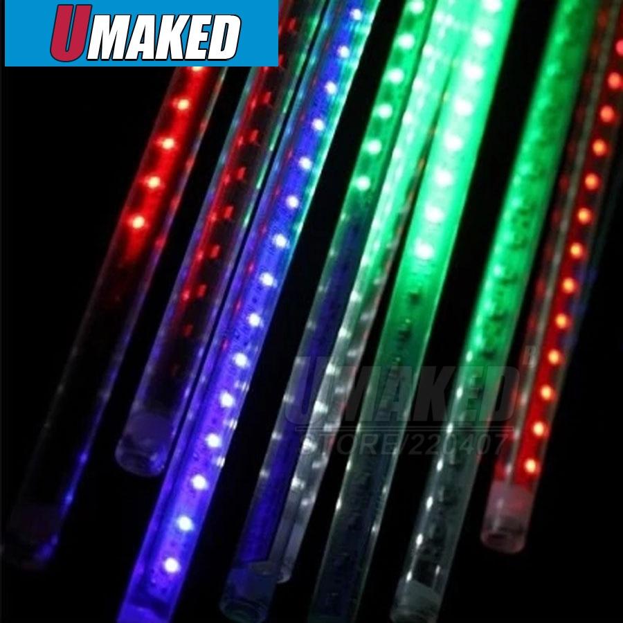 10 tubes/ensemble 80 cm SMD5050 220 V 72 LED s/LED tube chute de neige, LED lumière de noël, tube de pluie étanche, tube de météore LED