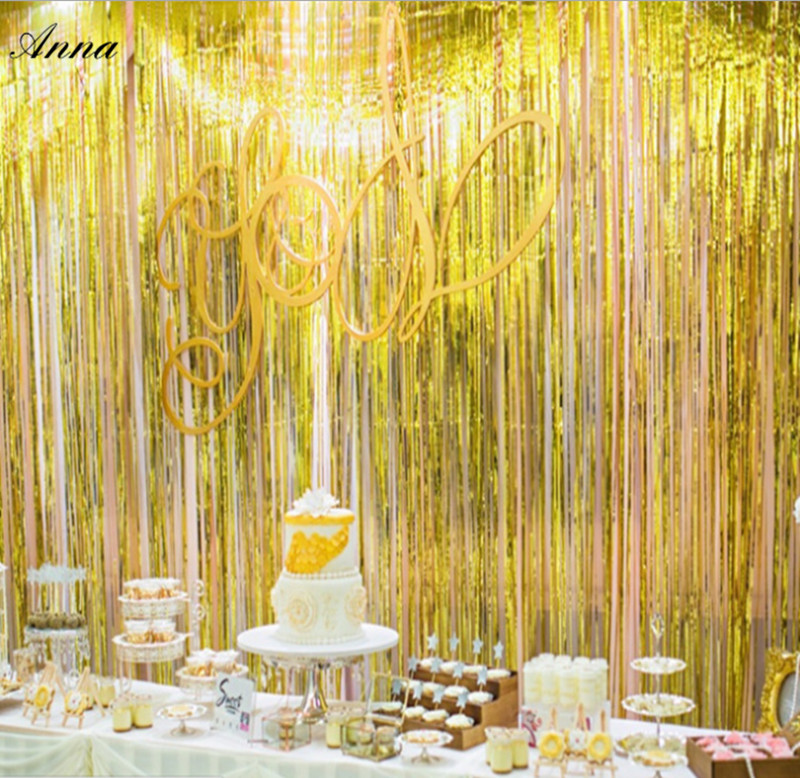 Aliexpress.com : Buy 1Pc gold Rain Curtain Scene Props Photo ...