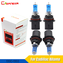 Cawanerl For Cadillac Allante 1990-1993 100W Halogen Bulb 4300K Warm White 12V Car Light Source Headlight High Low Beam 4 Pieces