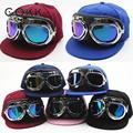 Cokk 2017 caliente estilo europeo gafas de sol piloto niños gorra de béisbol de hip hop snapback caps sombreros de moda para niños niñas casquette