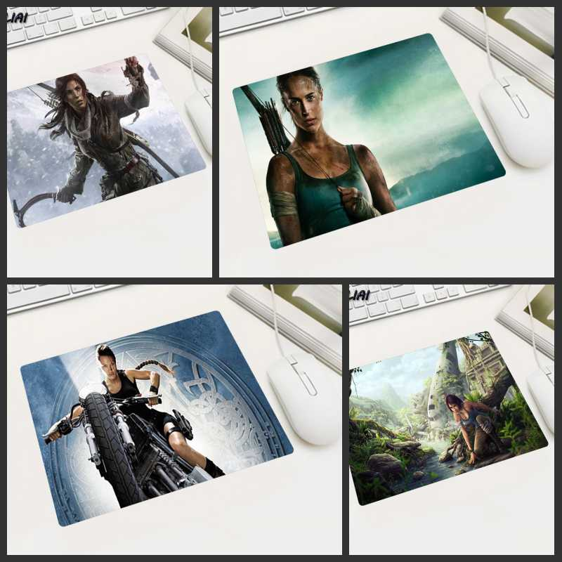 XGZ Video Rubber Game Wallpaper Mouse Pad 22X18 25X20 29X25 CM Tomb Raider Player Office Family Pc Gaming Laptop Mause Mat
