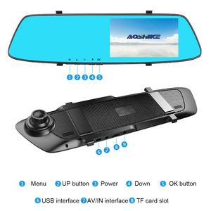 Image 4 - AOSHIKE 4.7 Inch Rijden Recorder Auto Achteruitkijkspiegel Recorder Full HD 1080 P Dual Opname Display Auto DVR Voertuig Camera
