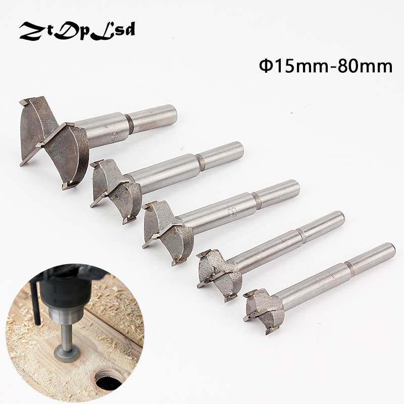 ZtDpLsd 1Pc Professional Forstner Auger Woodworking Boring Wood Drill Bit Hole Saw Silver Tone Cutter Diameter Hinge Edge Tool