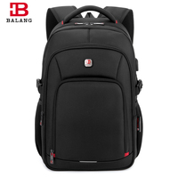 BALANG Men Laptop Backpack For 15 6 Inch Computer USB Charging Port Backpacks Male Waterproof Business