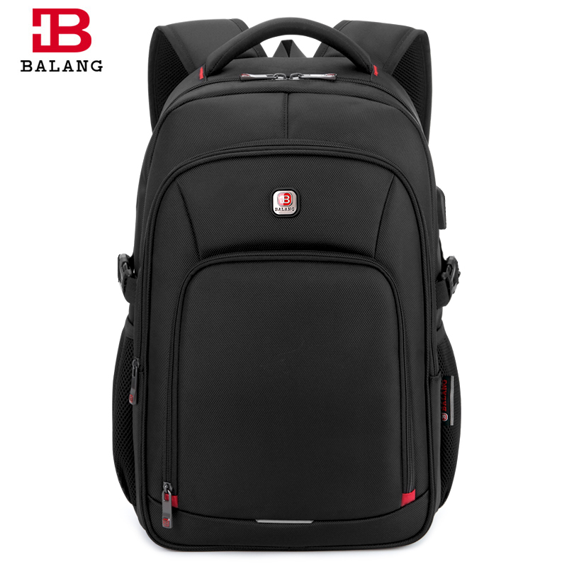 BALANG Men Laptop Backpack for 15.6 inch Computer USB Charging Port Backpacks Male Waterproof Business Women Travel Luggage Bags baijiawei men and women laptop backpack mochila masculina 15 inch backpacks luggage