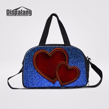 e877dc3265 Dispalang Ladies Duffle Tote Bag For Traveling Weekend Overnight Bag Travel  Luggage Shoulder Bag Heart Prints Women Travel Bags