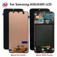 ЖК дисплей с сенсорным экраном и дигитайзером в сборе с рамкой для Samsung Galaxy A50 SM A505FN/DS A505F/DS A505