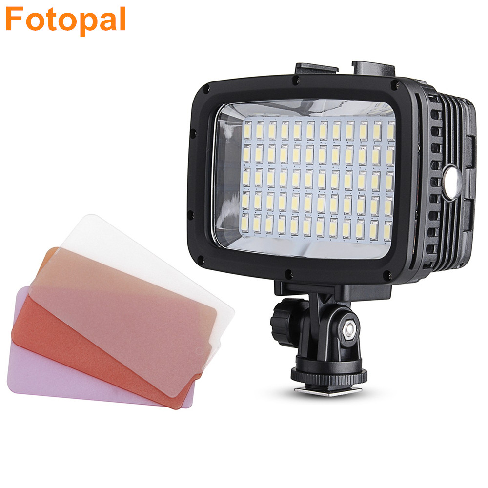 60pcs Led 1800LM 40m Underwater Waterproof Diving Lamp Video LED Photography Light for GoPro Xiaomi Yi