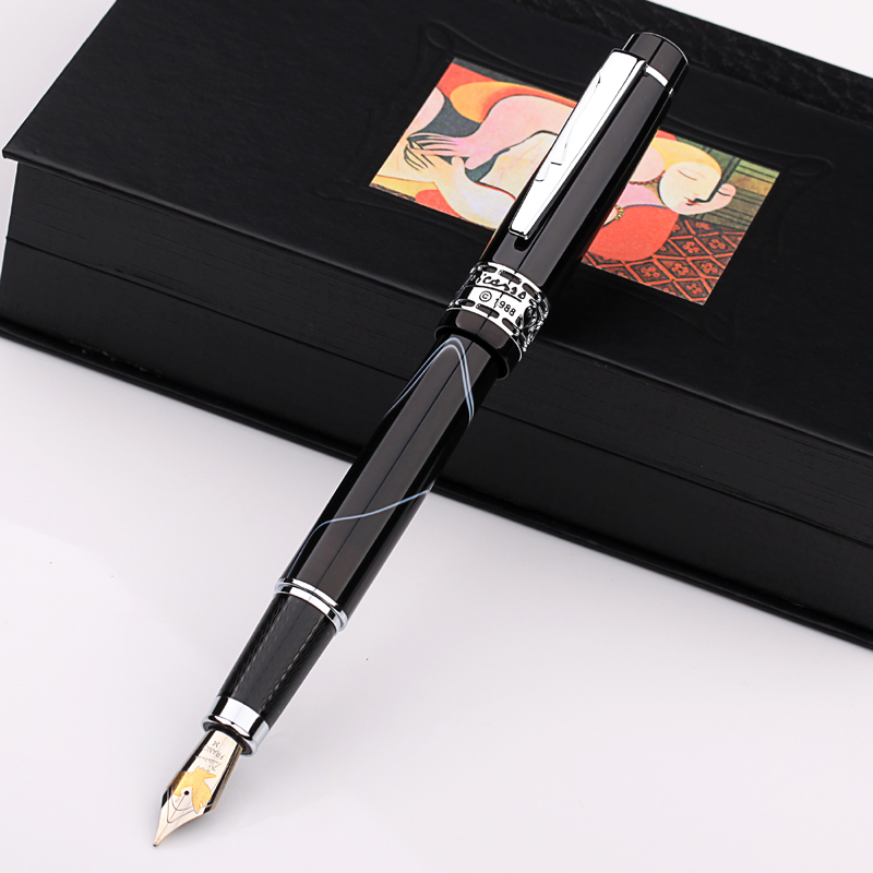 Image 3 - Picasso ps 915 eurasian feelings  symphony PS915  Iridium fountain pen sign pen gift box turquoise marble black ruby red-in Fountain Pens from Office & School Supplies
