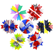 1pcs Big Bowknot Sweet Cute Girls Hair Bows Children Hairpins Boutique Ribbon Large Clips Fastion Accessories