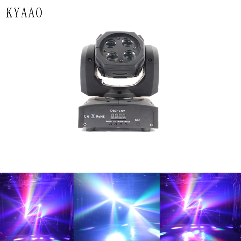 2018 newest 4*10W led RGBW gobo moving head beam light disco dj spot DMX512 stage projector