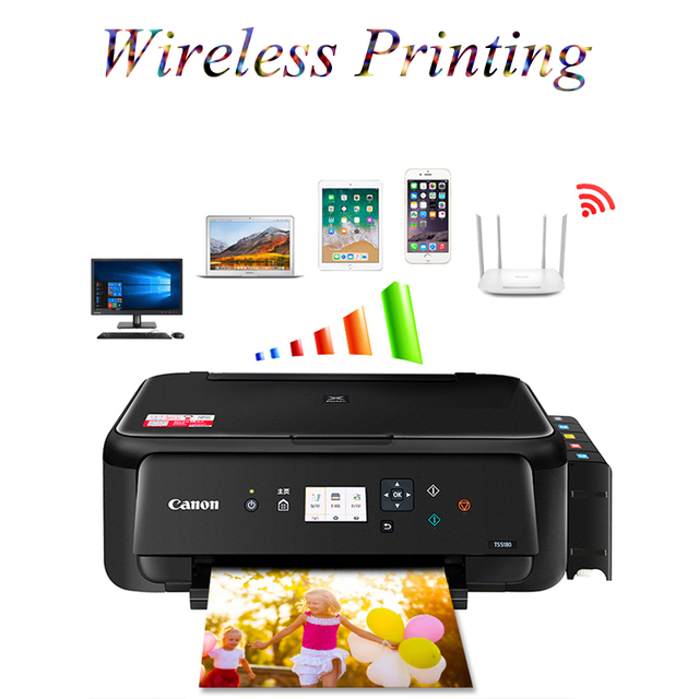 Wifi Mobile Phone Photo Color Printer Home Copy Scanning Machine TS-6120