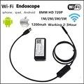 HD720P 8 мм Объектив WIFI Камеры Эндоскопа 5 М 3 М 2 М 1 М Змея USB Iphone Android Бороскоп IOS Tablet Беспроводной Бороскоп Камеры