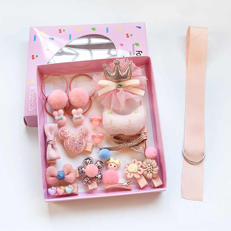 Набор детский модный аксессуары для волос заколка для волос Подарочная коробка Детские заколка для девочек