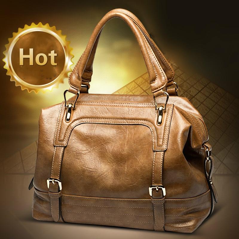 Hot Sale Women Shoulder Bag Fashion Vintage Boston Messenger Bag Large Motorcycle Crossbody Bags Bolsa Feminina