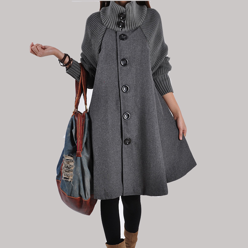 Popular Long Cape Coat-Buy Cheap Long Cape Coat lots from China ...