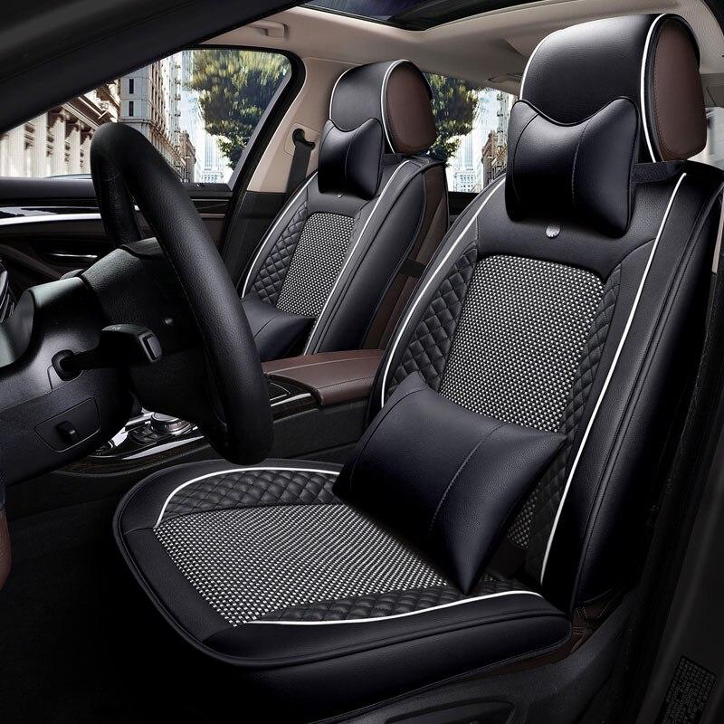New leather car seat cover Universal auto seat cushion for skoda fabia 1 2 3 octavia a5 a7 rs rapid spaceback superb yeti kodiaq