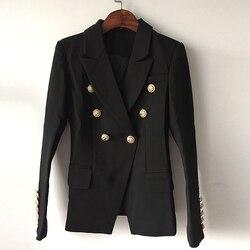 Nueva chaqueta de diseño 2020 de alta calidad, chaqueta con doble botonadura, chaqueta con botones de metal de leones, tamaño exterior S-XXXL